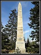Pomník Adalberta Stiftera nad Plešným jezerem