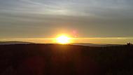 Křížatky, rozhledna jeřabina. Západ slunce
