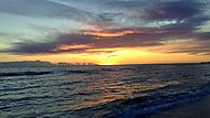 Itálie, přístav Ostia Antica. Západ slunce.