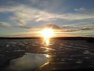 Východ slunce v Laponsku