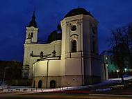 Poutní kostel Křtiny.v noci
