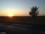 Západ slunce při večerním cyklotripu