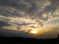 Západ slunce Holešovsko