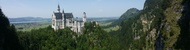 Zámek Neuschwanstein - panorama