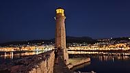 Maják Rethymno - Kréta - noc