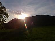 západ slunce a Lovoš