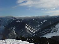 Turská dolina z vrchu Čipčie 926m n. m.