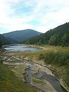 ústí přehrady Šance