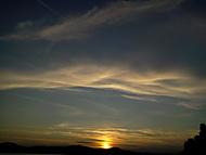 západ slunce na Mácháči