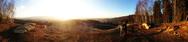 Panorama Liberec + kolemjdoucí rodinka