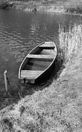 Loďka na Žermanické přehradě