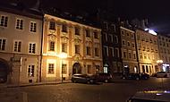 Chebské náměstí večer v zimě
