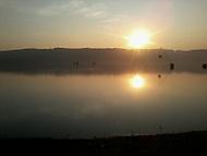 Západ slunce nad Hlučínským jezerem