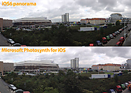 iOS6 panorama vs. Microsoft Photosynth for iOS (aisicek) - Apple iPhone 4S 16GB