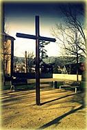 V parku pře kostelem