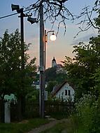 Novoměstský kostel v západu slunce
