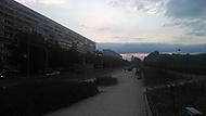 Praha 9 - západ slunce