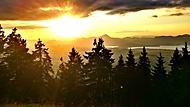 Západ slunce v Nízkých Tatrách