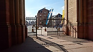Speyer - pohled z Dómu na pěší zónu