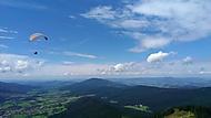 paragliding na Ostrým, Šumava