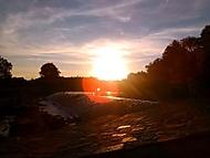 Katovice jez - západ slunce