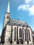 Chrám sv. Bartoloměje na náměstí Republiky v Plzni