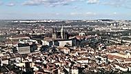 Pohled z rozhledny na Petříně